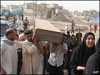 Funeral in Baghdad in May. File photo