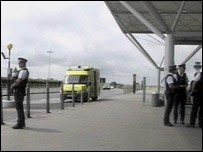 Armed police at Stansted