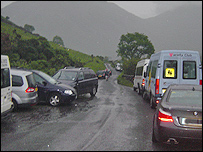Cars parked in Wasdale
