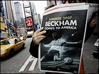 David Beckham in paper in New York