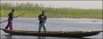 Fishermen on Lake Chad