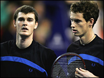 Jamie Murray (left) with brother Andy.