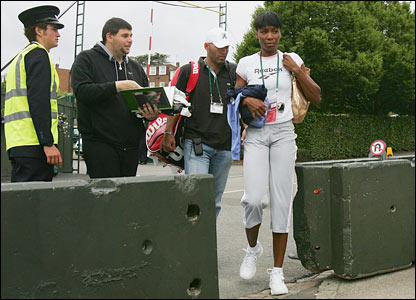 Venus Williams arrives at Wimbledon