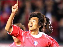 South Korea forward Lee Dong-Gook