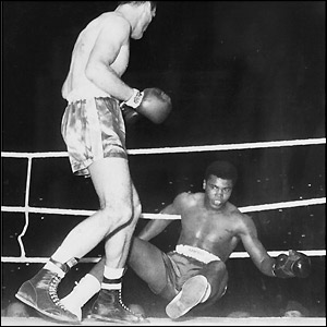 Henry Cooper floors Clay at Wembley