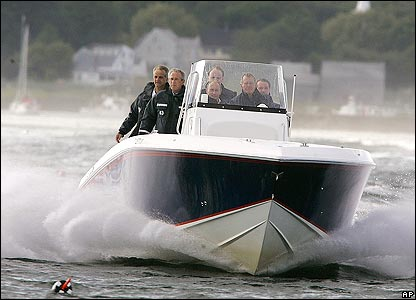 Bush family speedboat at sea