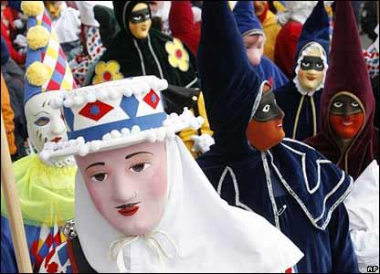 A parade in Brunnen, Switzerland