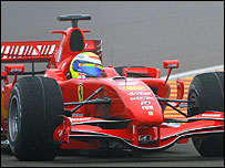 Felipe Massa in the new Ferrari F2007