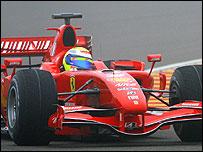 Felipe Massa in the new Ferrari F2007
