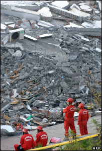 Earthquake damage in Taiwan, AFP/Getty