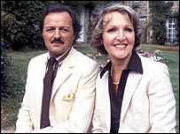 Peter Bowles with Penelope Keith in 1981
