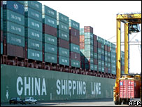 Chinese textiles arriving in Le Havre