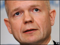 Shadow foreign secretary William Hague