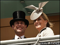 Prince Edward and the Countess of Wessex at Royal Ascot in 2007