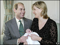Prince Edward and the Countess of Wessex with Lady Louise Windsor