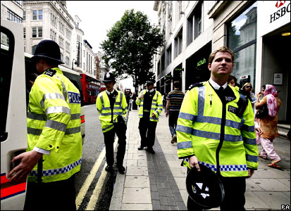 Police on Oxford Street