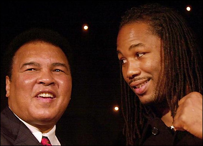 Ali with Lennox Lewis