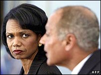 Condoleezza Rice and Ahmed Abul Gheit in Luxor