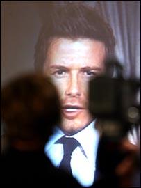 David Beckham gives his LA Galaxy  press conference