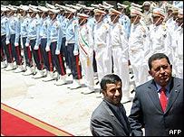Hugo Chávez y Mahmud Ahmadinejad, presidentes de Venezuela e Irán