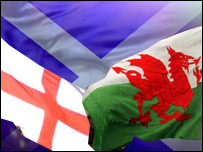 Flags of England, Scotland and Wales