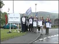Ebbw Vale hospital demonstration