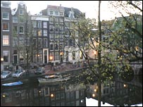 A nice view of the canals from Amsterdam