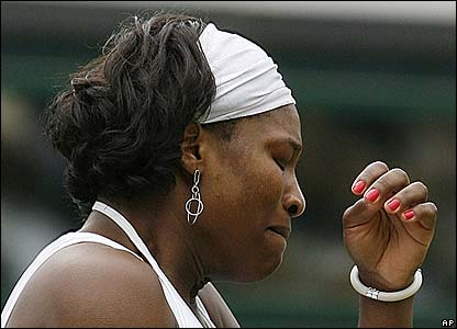 Serena Williams in tears on Centre Court