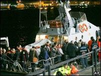 Crash scene in Messina