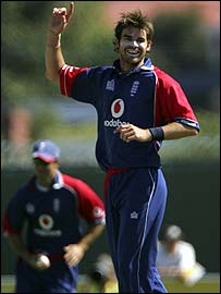 England fast bowler Jimmy Anderson
