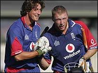Jon Lewis and Andrew Flintoff