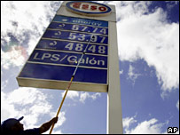 Esso station in Honduras