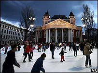 Skaters in Sofia