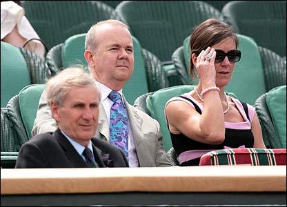 Ian Hislop looks on