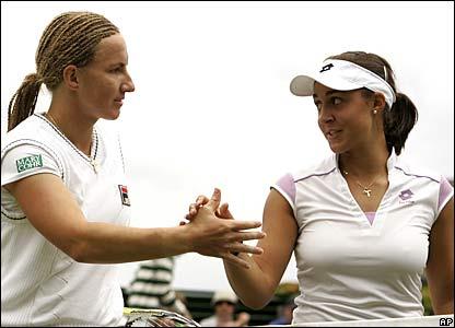 Svetlana Kuznetsova and Tamira Paszek