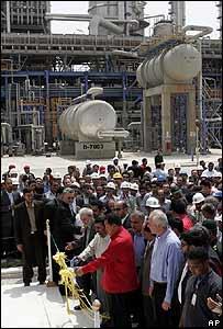 Los presidentes venezolano e iraní inauguran el complejo petroquímico de Borzuyrh