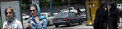 Calle en Teherán
