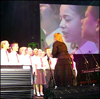 Hunters Hall Primary School choir perform at the Roundhouse