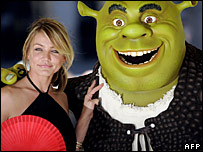 Cameron Diaz and Shrek
