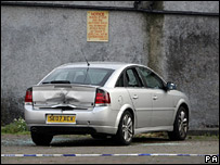 Car at Glasgow mosque