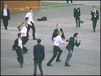 Secondary school playground