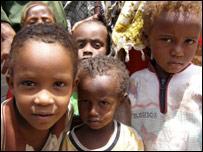 Somali children at the UNHCR refugee camp