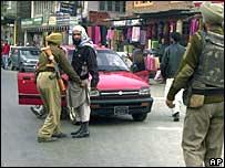 Indian troops in Srinagar
