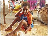 A child in Vanuatu