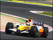 Heikki Kovalainen in the Renault F1 car