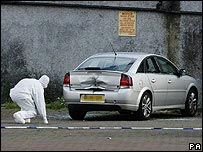 Car outside mosque in Glasgow