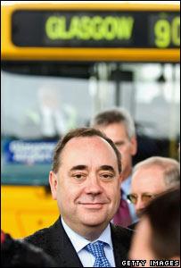 Alex Salmond at Glasgow Airport