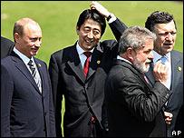 El presidente brasileño (segundo por la derecha) en la última cumbre del G8