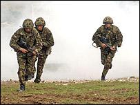 Military training image