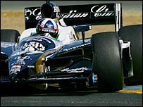 Dario Franchitti drives the Andretti Green Racing Klein Tools/Canadian Club Dallara Honda